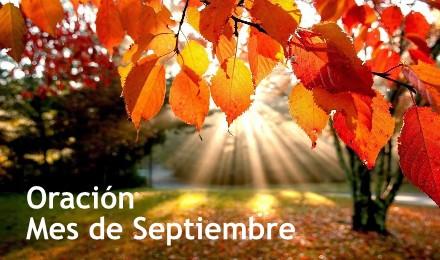 septiembre oracion reflejos de luz