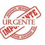 Anuncio urgente